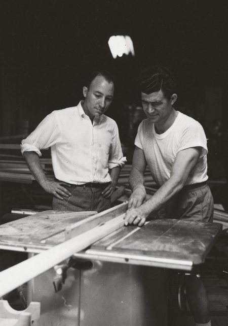 Construction of the first harp in 1954