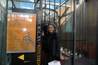 Mrs Julia Salvi in the opening day of the Museum